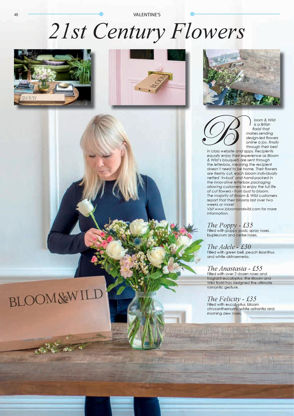 48  VALENTINE   S  49  21st Century Flowers  B  loom   Wild is a British florist that makes sending design-led flowers onl...