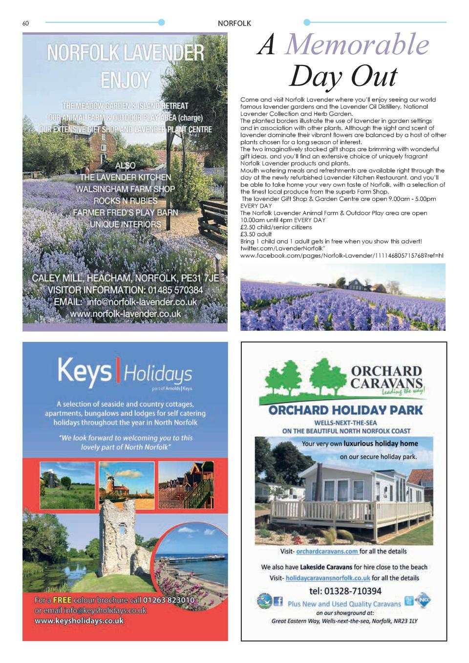 60  NORFOLK  A Memorable Day Out  Come and visit Norfolk Lavender where you   ll enjoy seeing our world famous lavender ga...