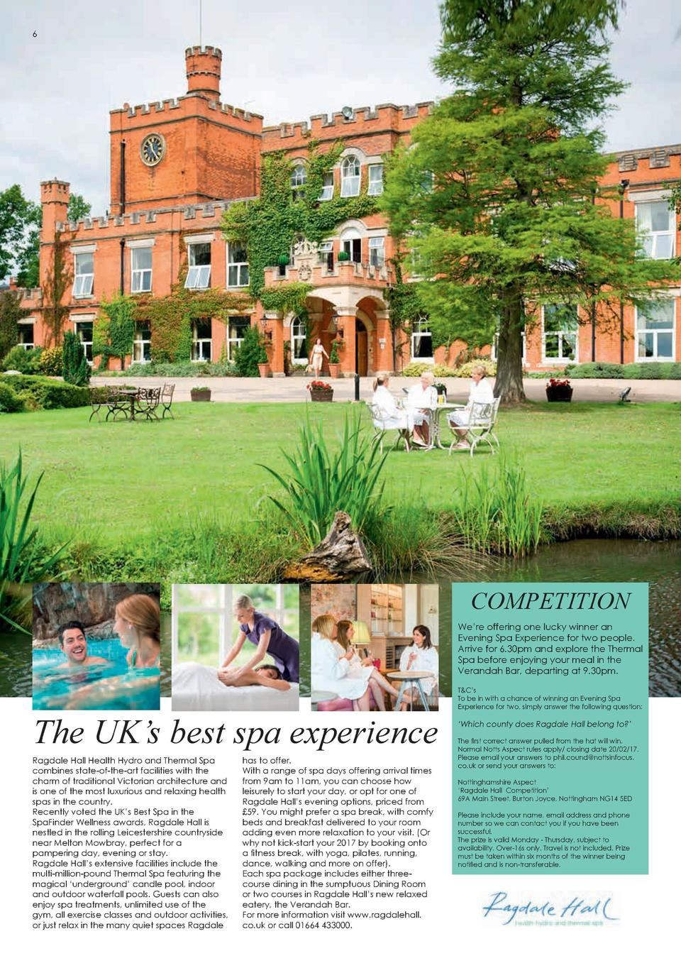 6  Celebrating the Angel Ball  COMPETITION We   re offering one lucky winner an Evening Spa Experience for two people. Arr...