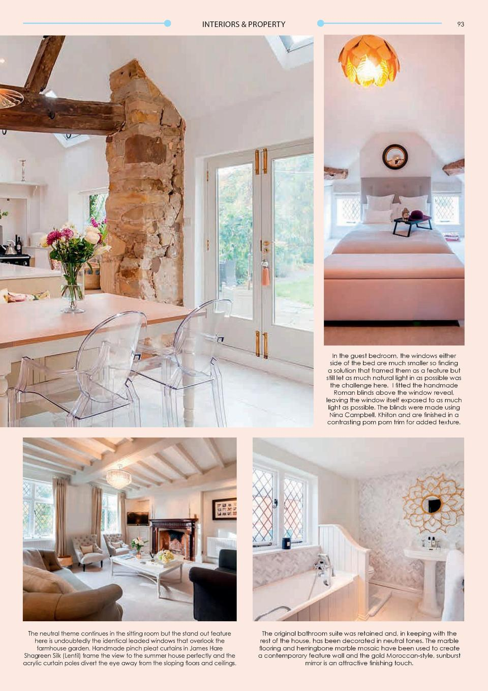 INTERIORS   PROPERTY  92  INTERIORS   PROPERTY  A modern twist on a traditional farmhouse The Interiors Lady takes us behi...