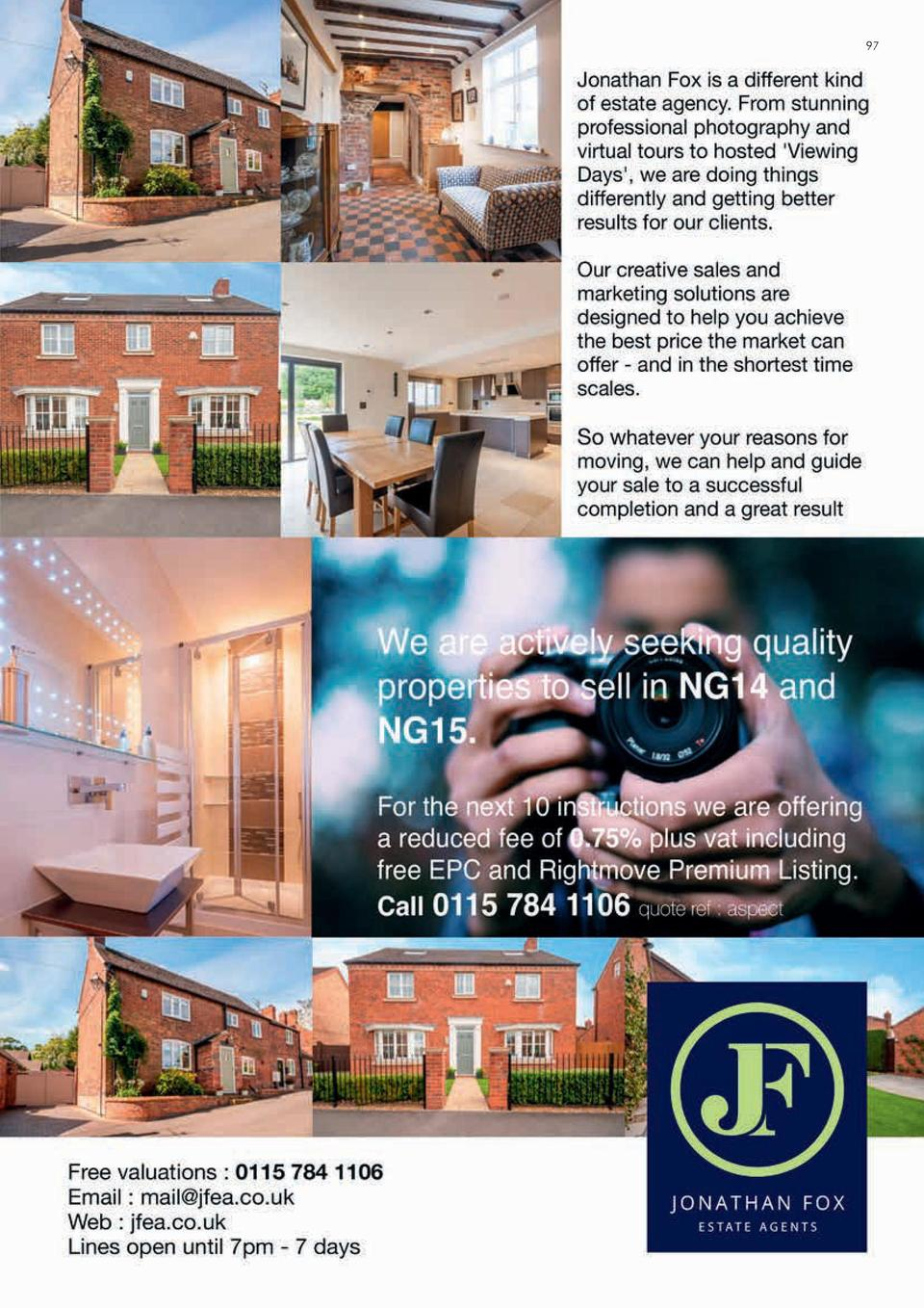 96  INTERIORS   PROPERTY  2016 Local market round-up Local, independent Estate Agents   Chartered Surveyors, Rex Gooding i...
