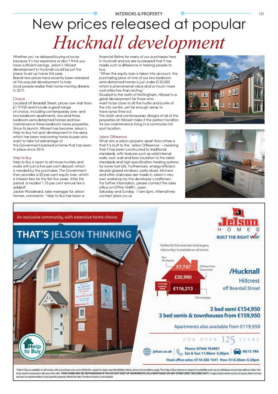 INTERIORS   PROPERTY  New prices released at popular  Hucknall development  Whether you   ve delayed buying a house becaus...