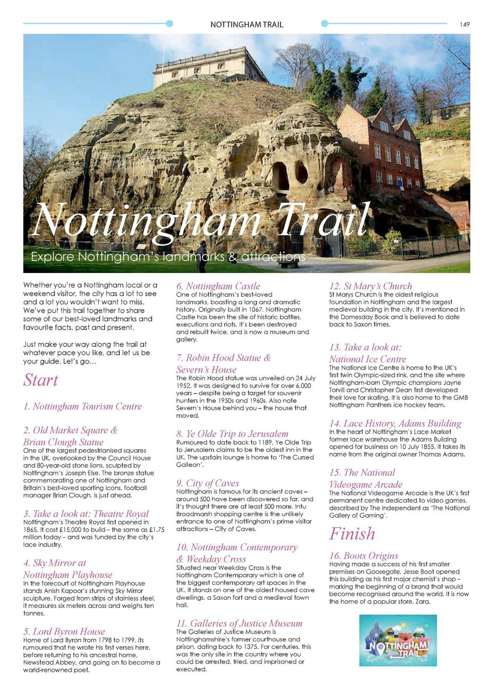 NOTTINGHAM TRAIL  148  149  Nottingham Trail Explore Nottingham   s landmarks   attractions Whether you   re a Nottingham ...