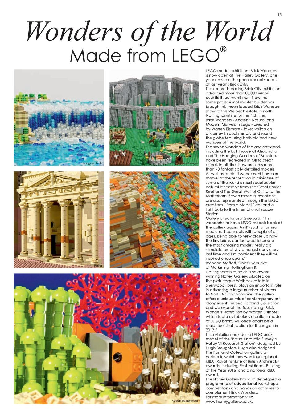 Wonders of the World  14  15  Made from LEGO      Niagara Falls  Stonehenge  Petra  Grand Canyon  Happy Memories Southfiel...