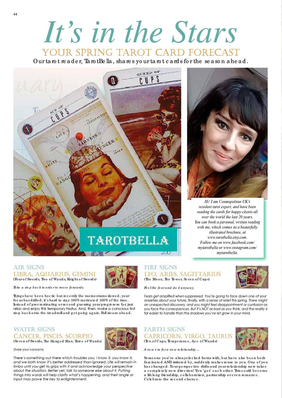 44  It   s in the Stars  Your Spring Tarot Card Forecast  Our tarot reader, TarotBella, shares your tarot cards for the se...