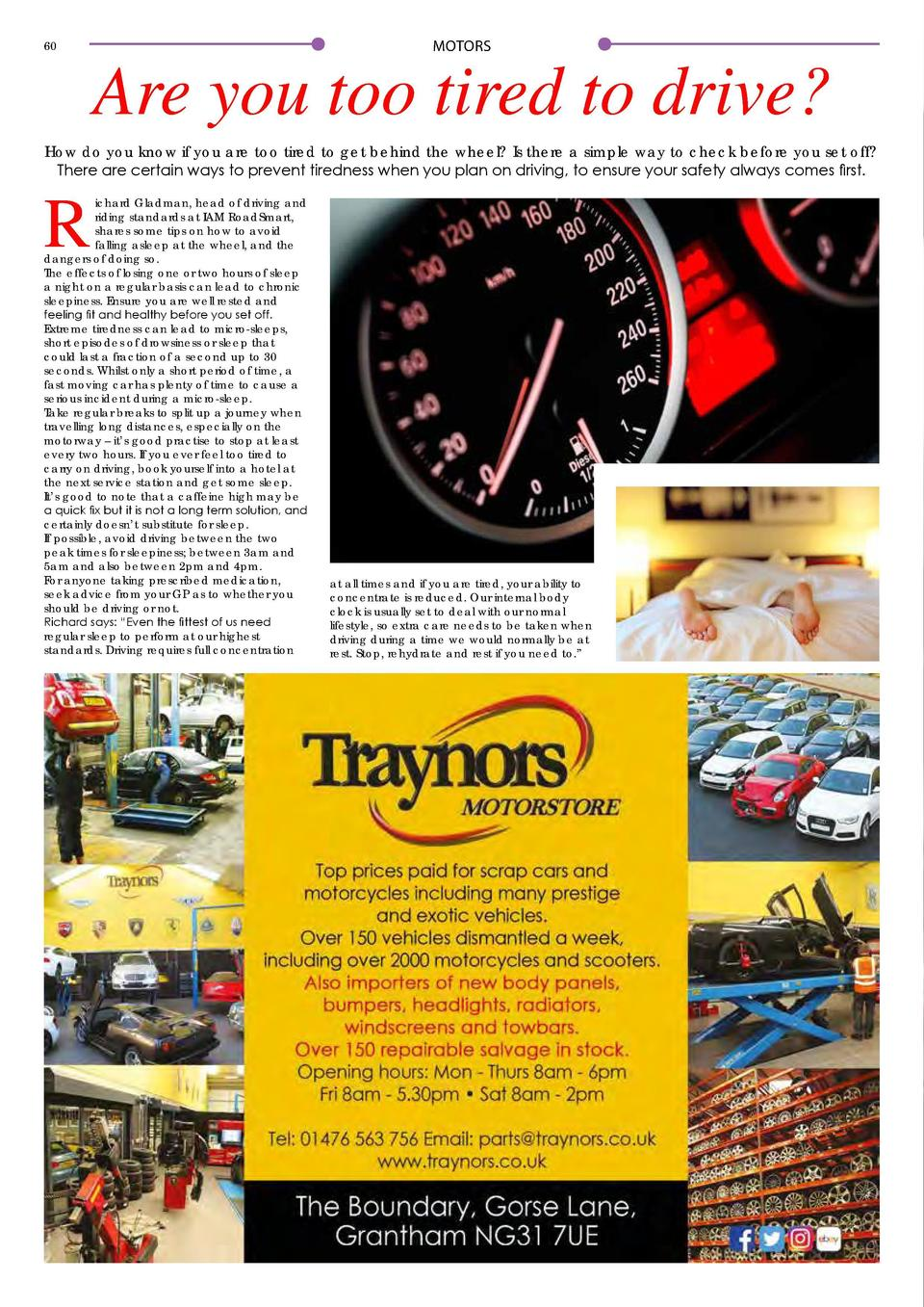 MOTORS  60  Are you too tired to drive  How do you know if you are too tired to get behind the wheel  Is there a simple wa...