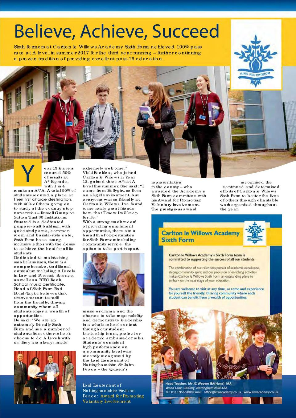 EDUCATION   TRAINING  Learn, Develop and Achieve 66  Linkage College is an independent, further education college offering...