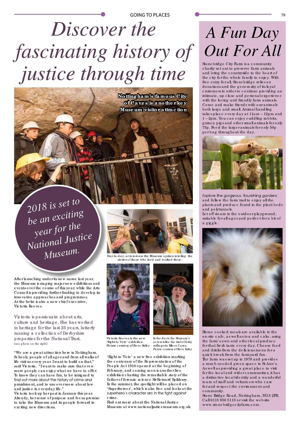 78  GOING TO PLACES  GOING TO PLACES  79  Discover the A Fun Day fascinating history of Out For All justice through time N...