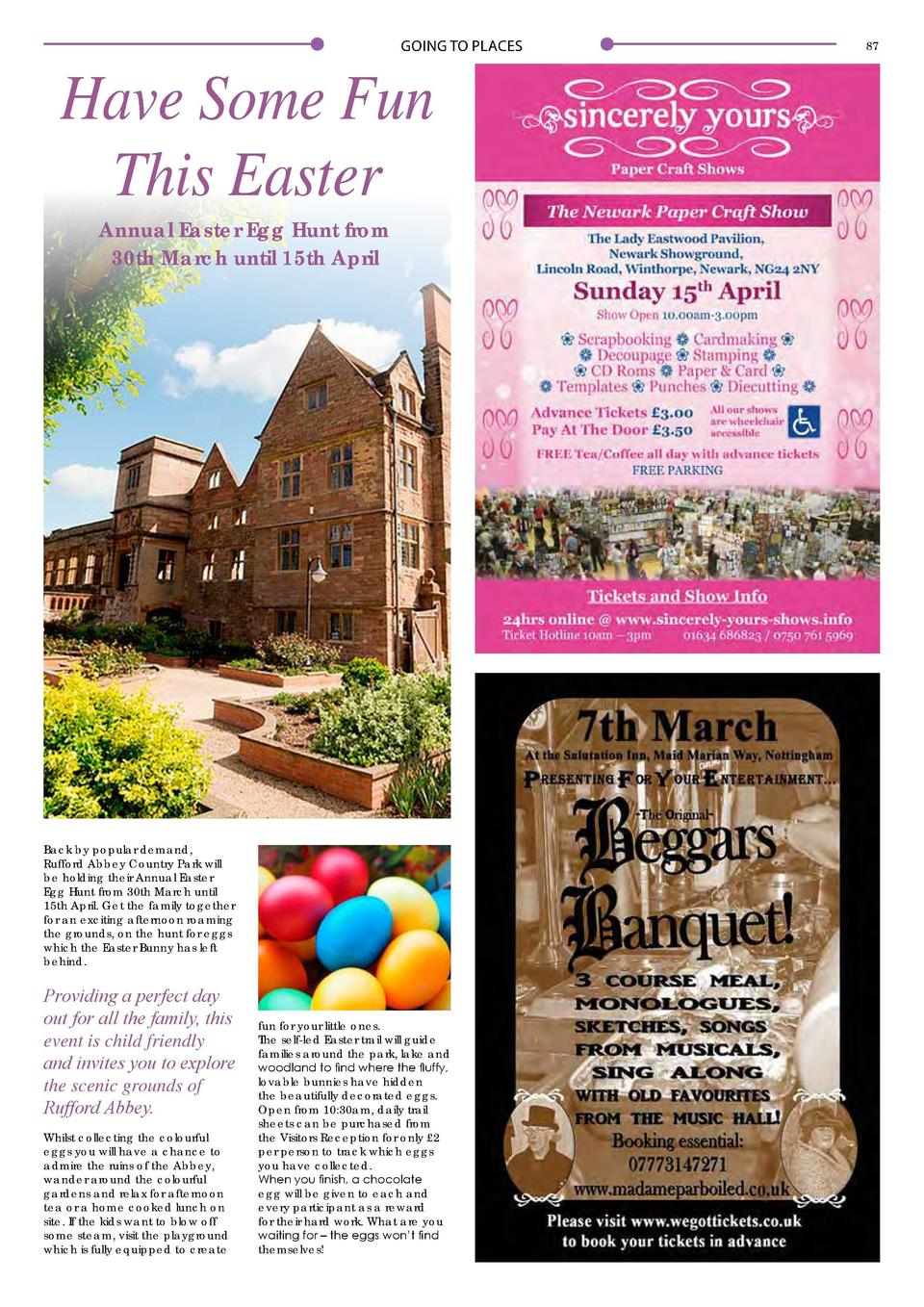 86  GOING TO PLACES  GOING TO PLACES  Have Some Fun This Easter Annual Easter Egg Hunt from 30th March until 15th April  B...