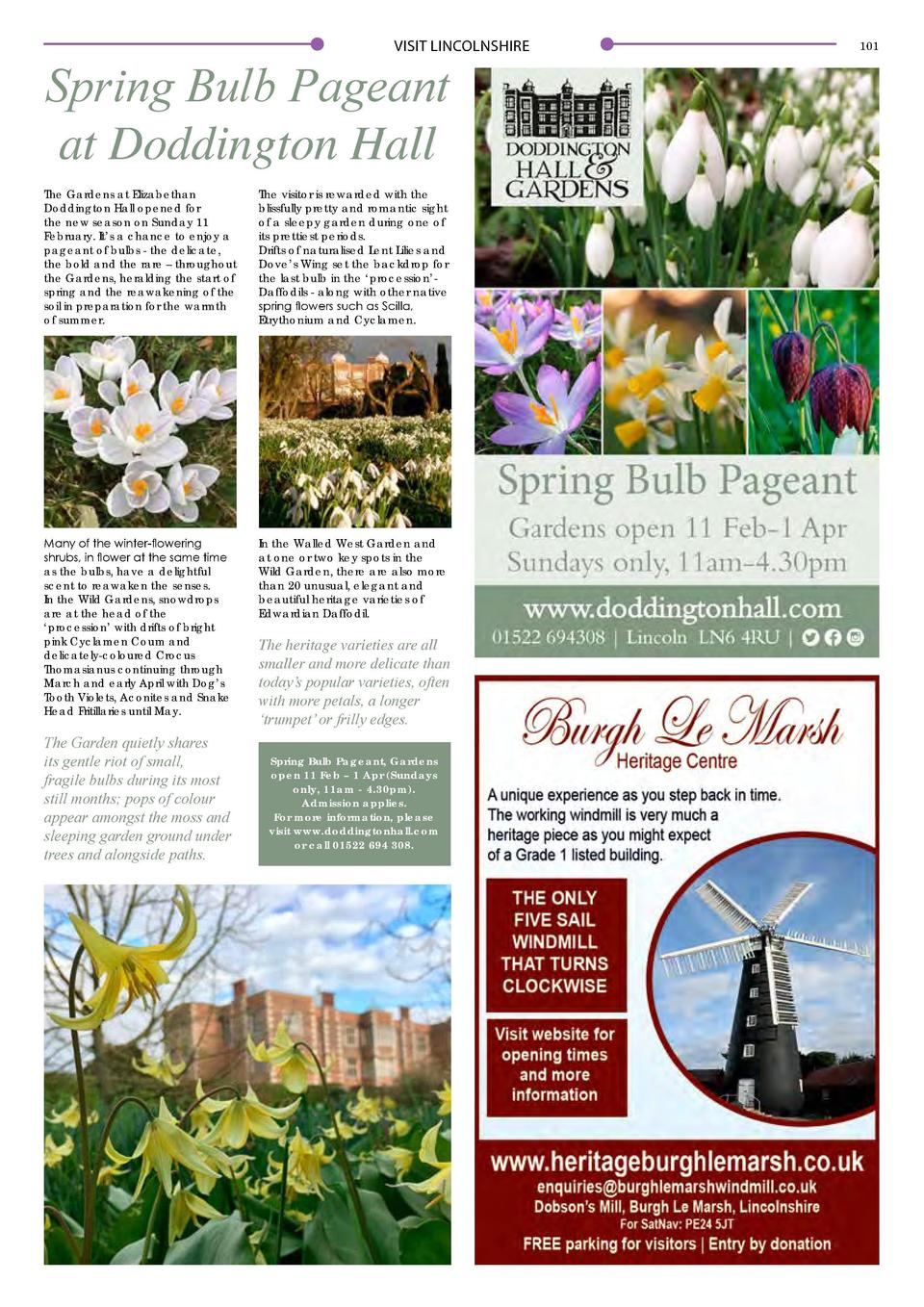 VISIT LINCOLNSHIRE  Spring Bulb Pageant at Doddington Hall The Gardens at Elizabethan Doddington Hall opened for the new s...