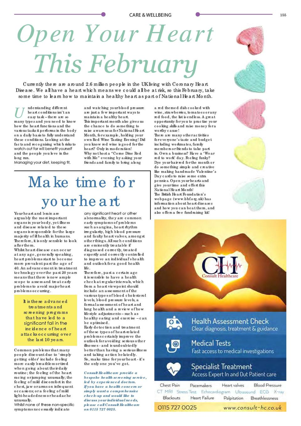 CARE   WELLBEING  Open Your Heart This February Currently there are around 2.6 million people in the UK living with Corona...