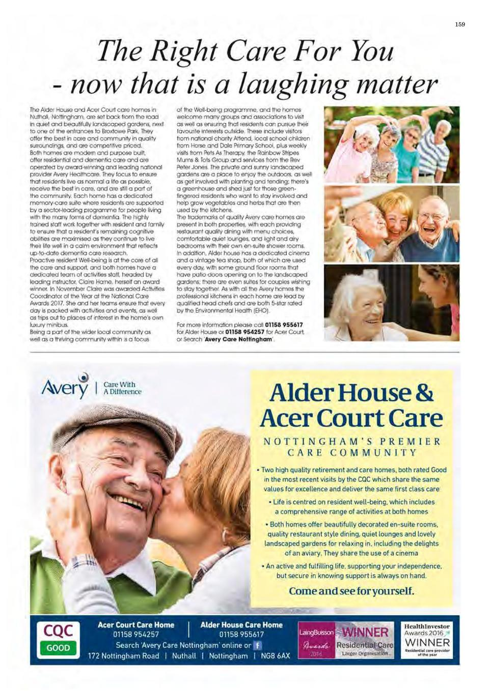 158  CARE   WELLBEING  BRINGING HOMESHARE TO NOTTINGHAM hings could have been very different for Shirley  85 , when she wa...