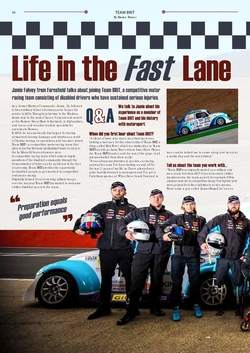 TEAM BRIT  16  TEAM BRIT  17  By Emma Turner  Life in the Fast Lane  he uses has been developed over about four versions, ...