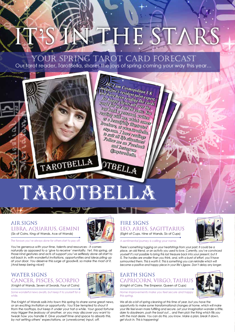 It   s in the Stars Your Spring Tarot Card Forecast  Our tarot reader, TarotBella, shares the joys of spring coming your w...