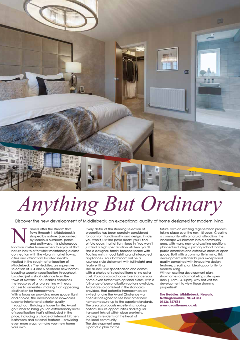 Anything But Ordinary N  Discover the new development of Middlebeck  an exceptional quality of home designed for modern li...