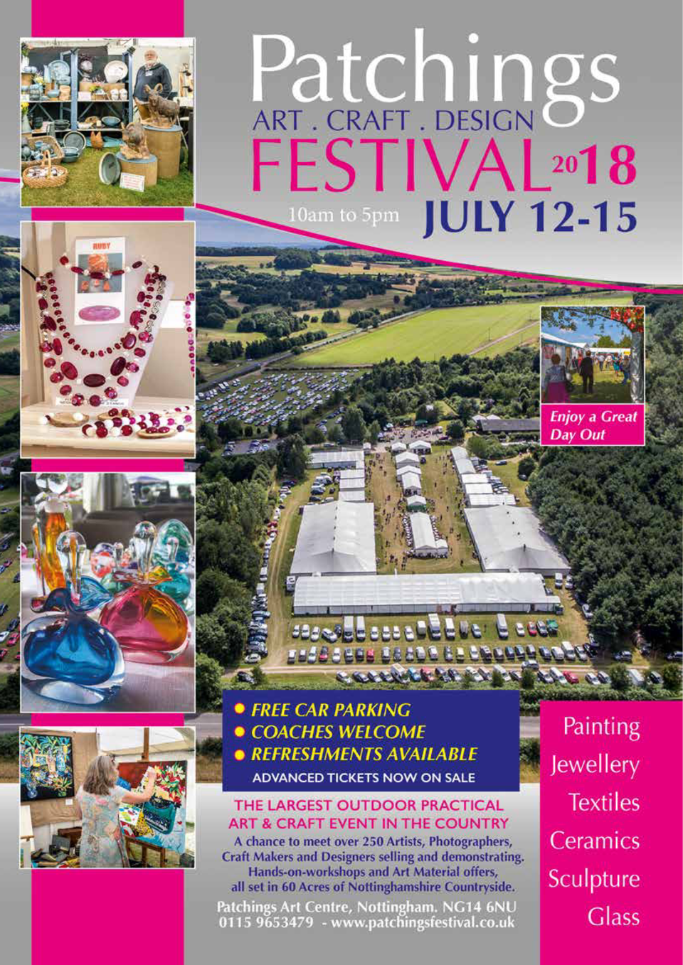 Celebrating  25  S  Years of Art  PATCHINGS BUILDING  et in 60 acres of picturesque countryside and showcasing over 250 of...