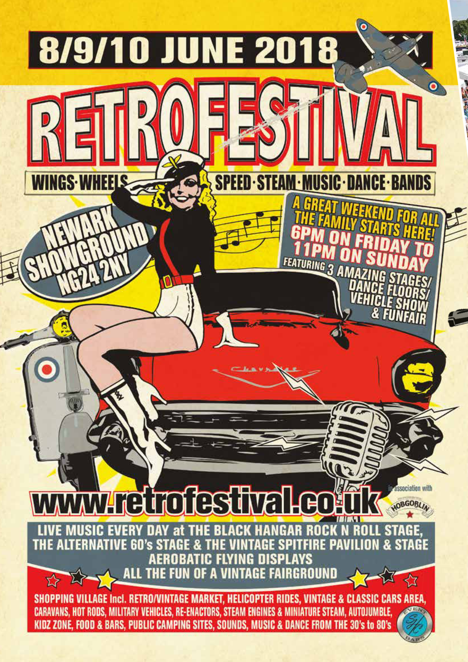 DAY PASSES AVAILABLE FROM    10.00  ALL THINGS VINTAGE Retro Festival, the largest festival of all things past in the UK, ...