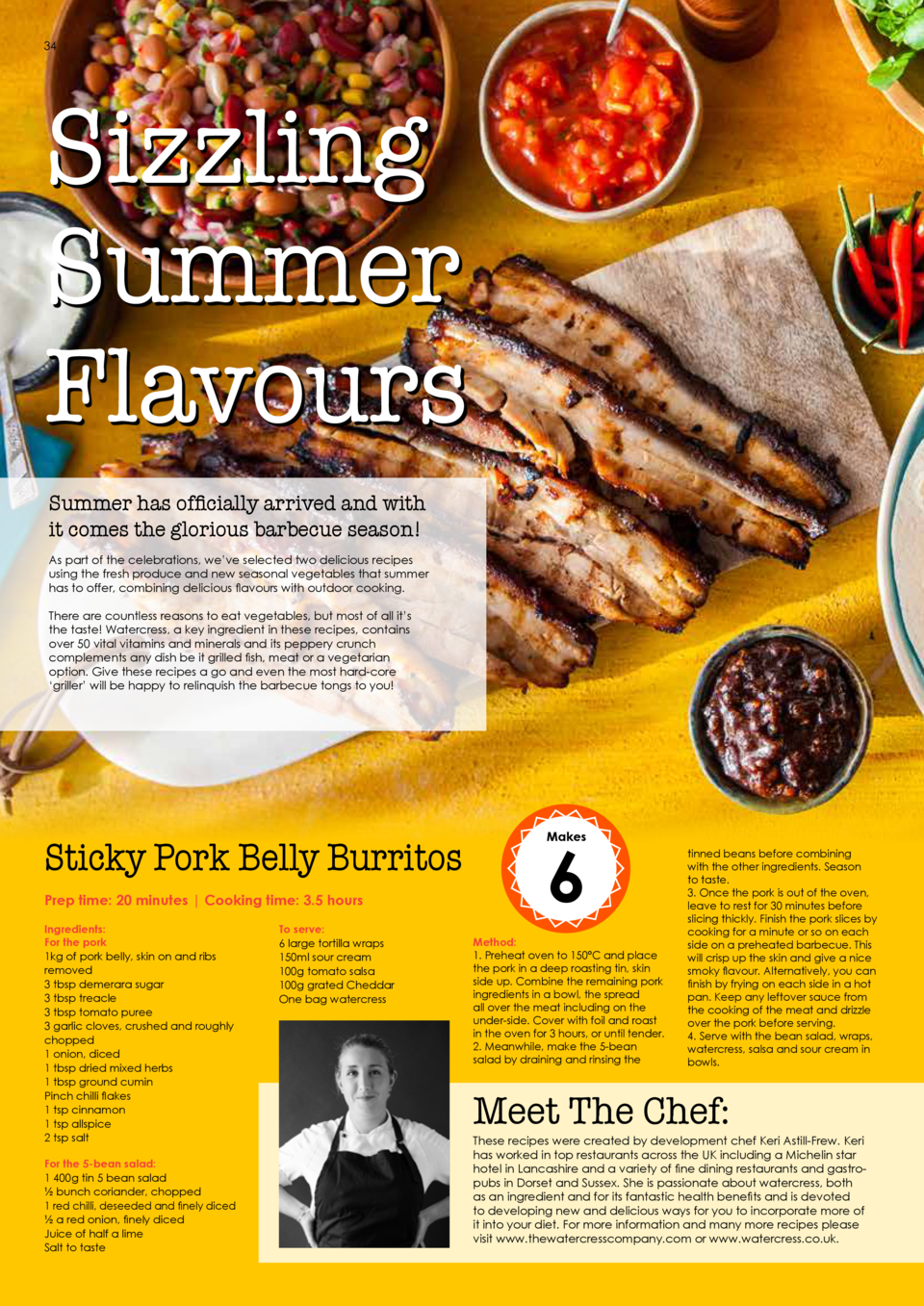34  35  Sizzling Summer Flavours  6  Makes  Summer has officially arrived and with it comes the glorious barbecue season  ...