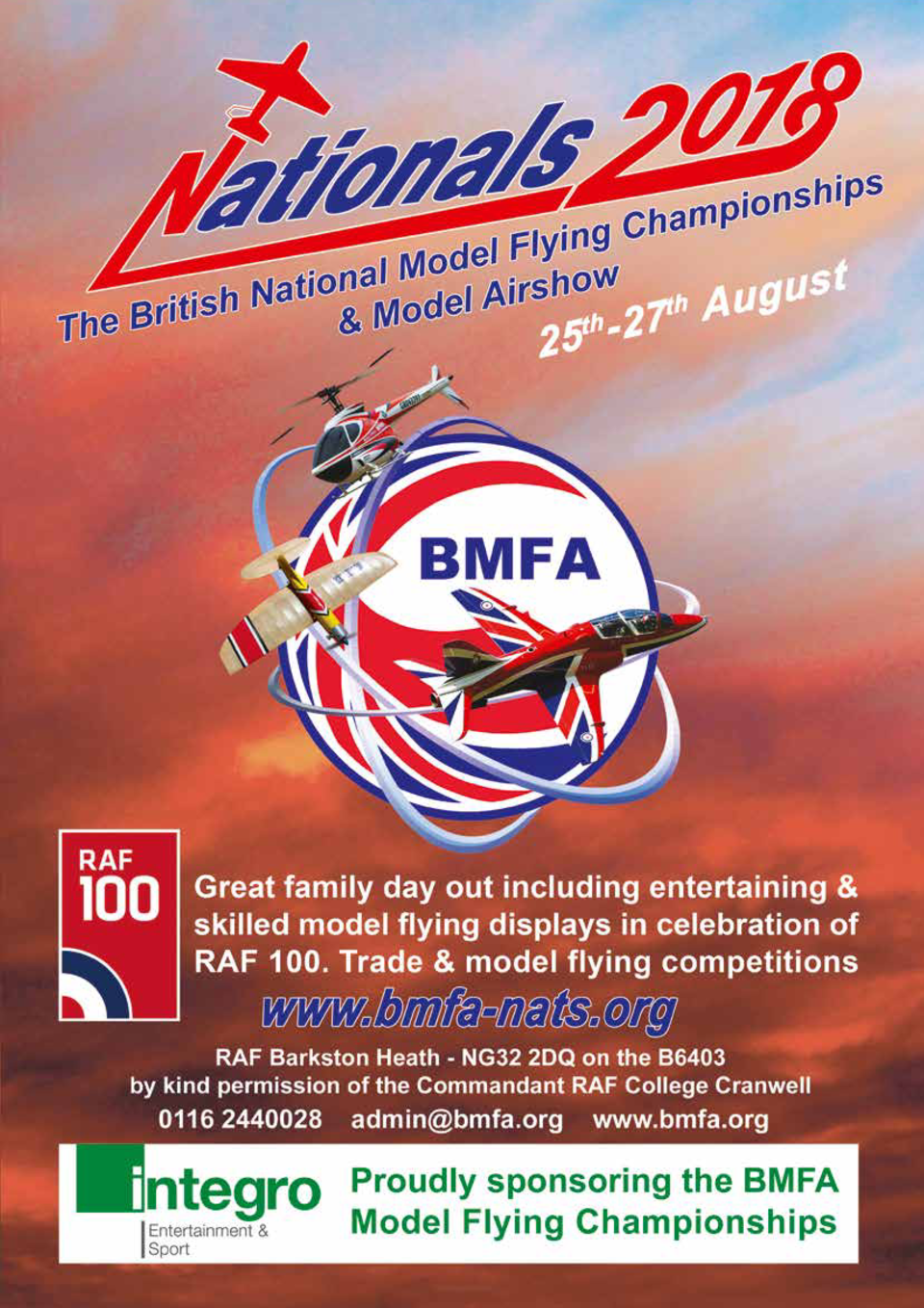 118  18  st 20 u g u A 27  25-  The British Model Flying Association  BMFA  will once again be holding its annual National...