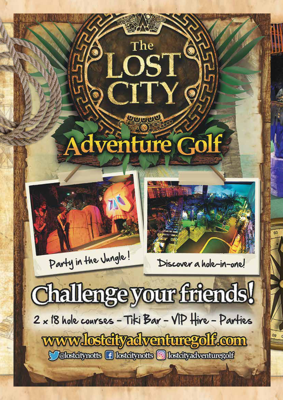 SCHOOL   S OUT FOR SUMMER  The Lost City Adventure Golf, based in the heart of Nottingham at The Cornerhouse, houses two s...