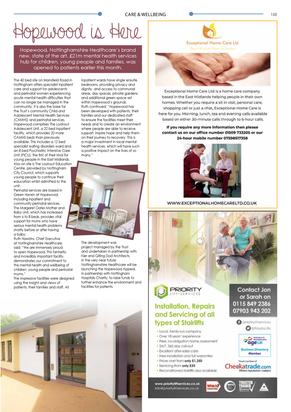 CARE   WELLBEING  Hopewood is Here Hopewood, Nottinghamshire Healthcare   s brand new, state of the art,   21m mental heal...
