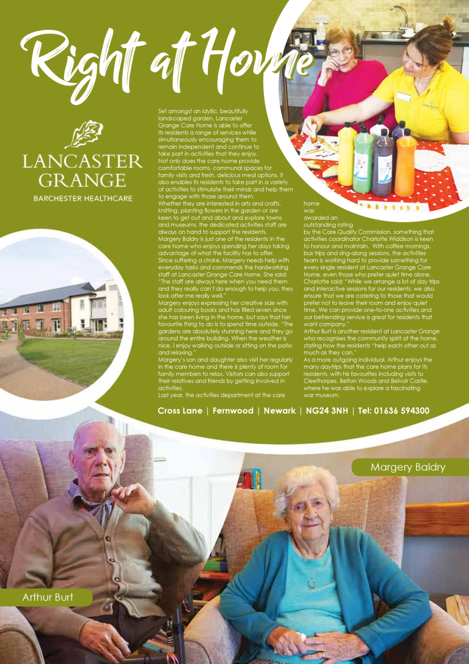 Set amongst an idyllic, beautifully landscaped garden, Lancaster Grange Care Home is able to offer its residents a range o...
