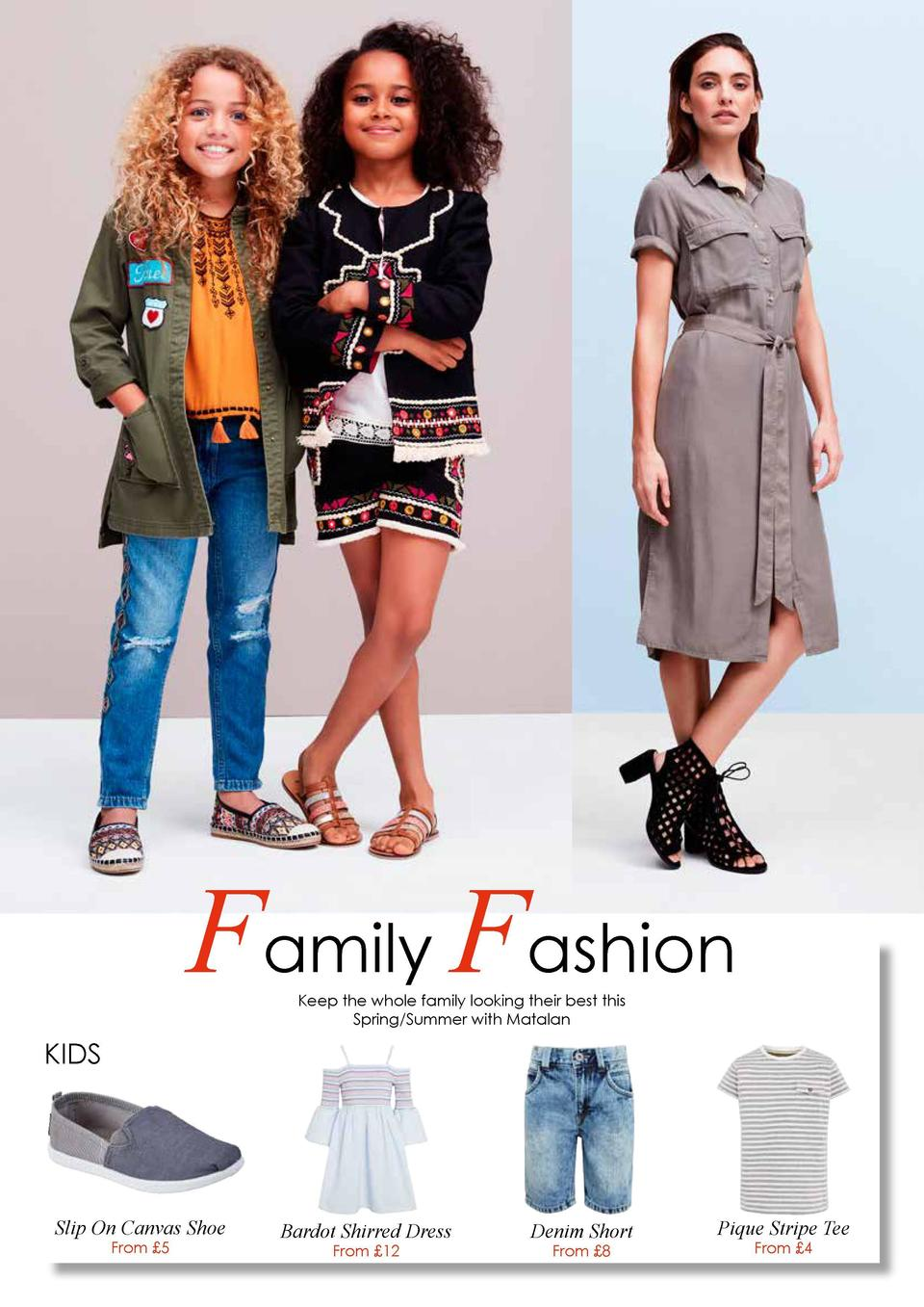 Family Fashion  WOMEN  MEN  Keep the whole family looking their best this Spring Summer with Matalan  Neoprene Detail Tenn...