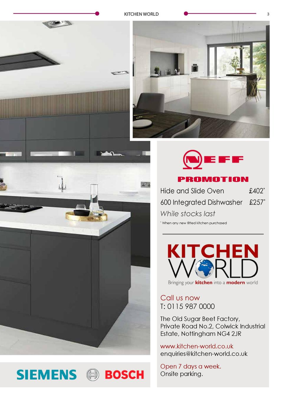 2  KITCHEN WORLD  KITCHEN WORLD  3  MAKING QUALITY AFFORDABLE  PROMOTION Hide and Slide Oven    402   600 Integrated Dishw...