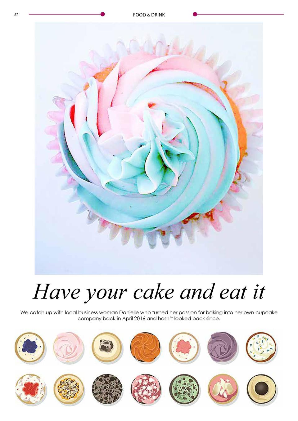 52  FOOD   DRINK  FOOD   DRINK  Q A  What   s the story behind Millie   s Cupcakes      I   ve always had a flare for art ...