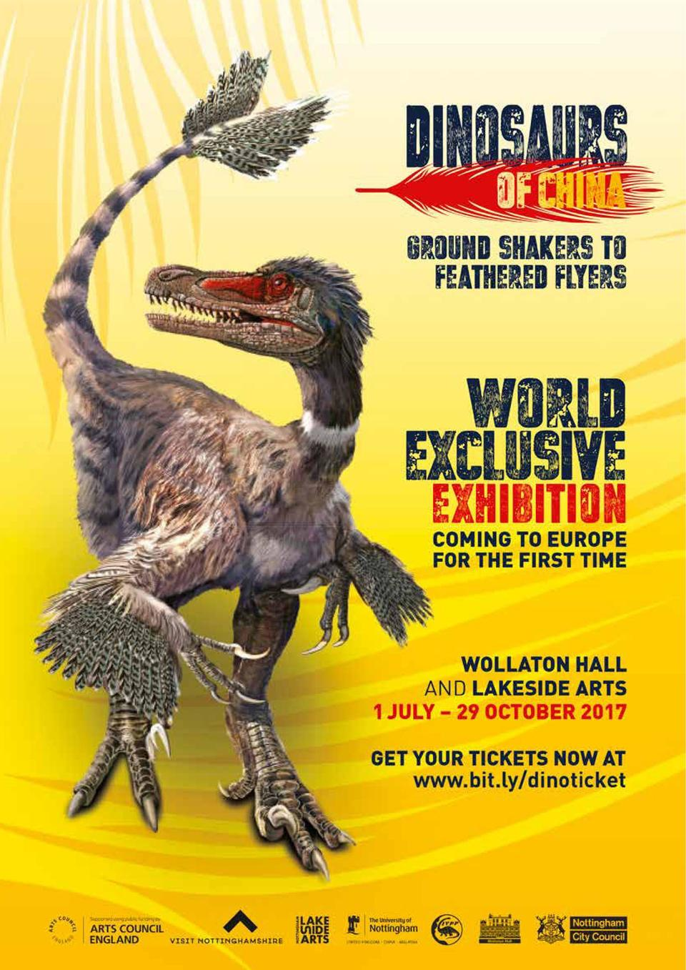 OUT   ABOUT  75  World Exclusive  - Dinosaurs of China  July-October 2017  Grab your tickets now and join the Dinosaur Rev...