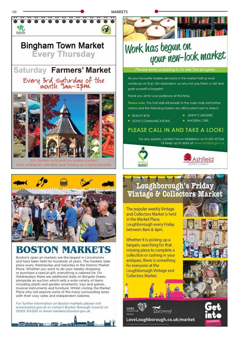 130  MARKETS  MARKETS  Love Your Local Market  Markets are a vital part of our nation   s high streets and town centres of...