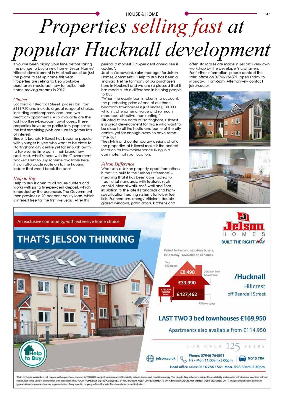 146  HOUSE   HOME  HOUSE   HOME  Properties selling fast at popular Hucknall development  If you   ve been biding your tim...