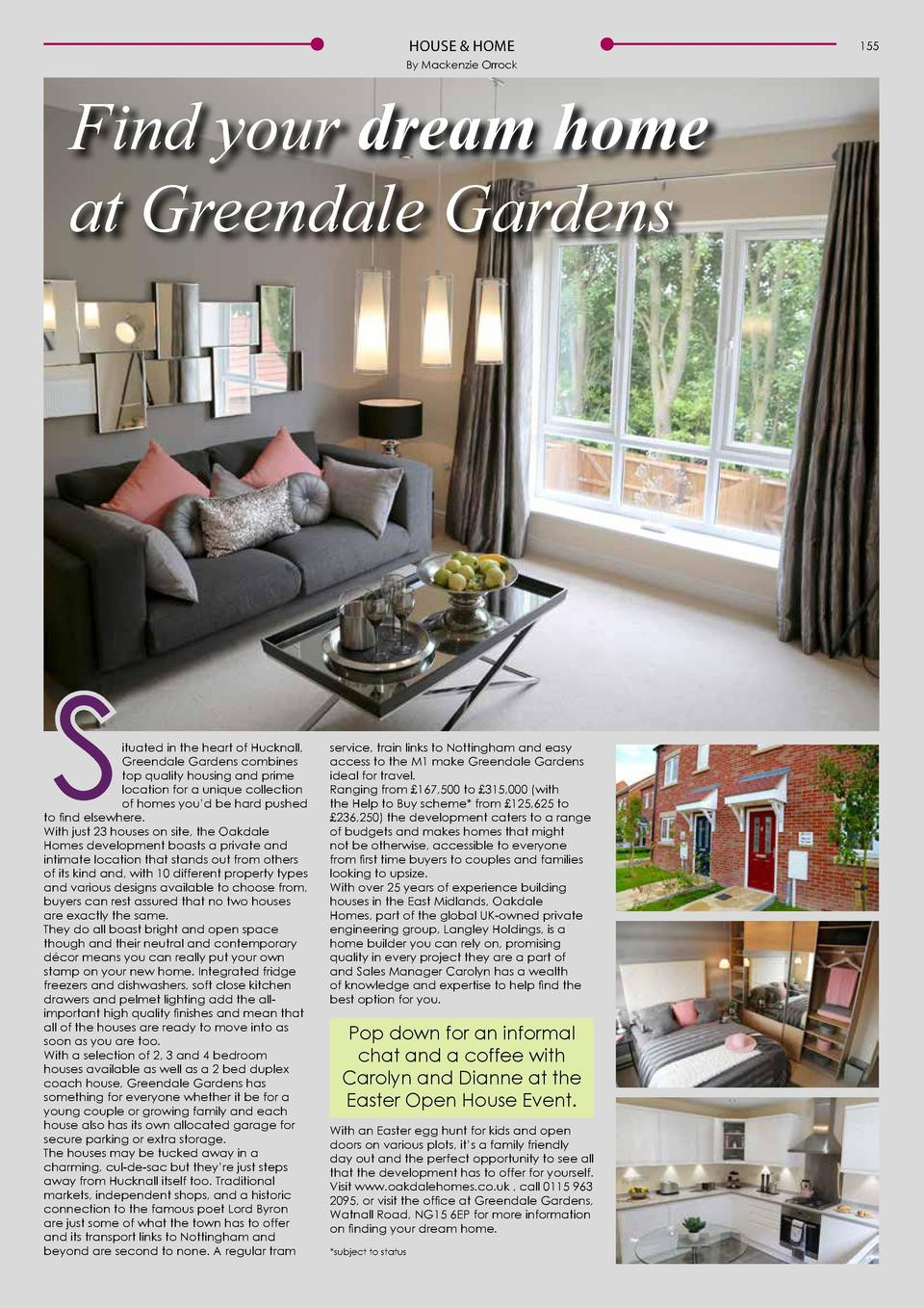 HOUSE   HOME By Mackenzie Orrock  Find your dream home at Greendale Gardens  S  ituated in the heart of Hucknall, Greendal...
