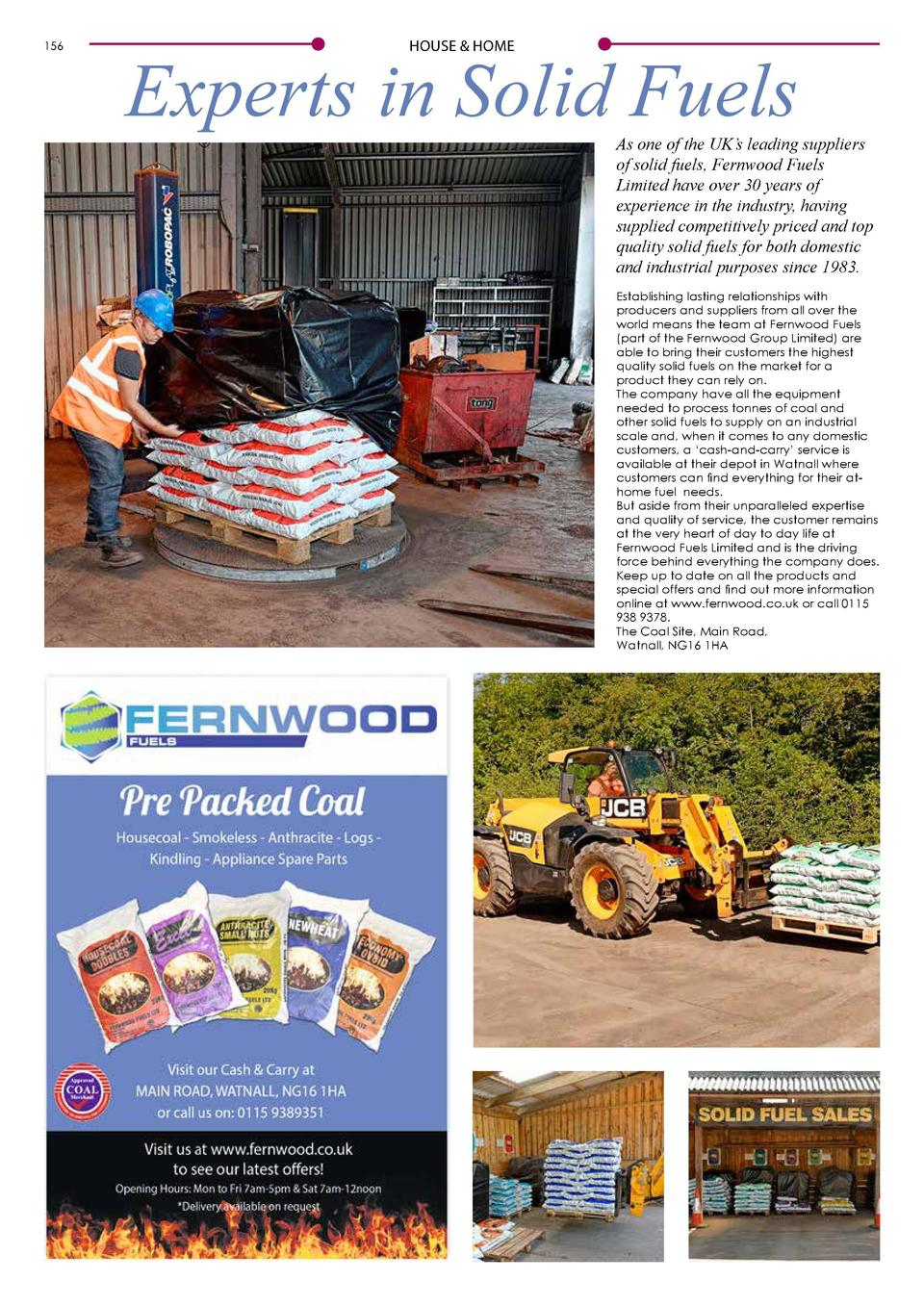 156  HOUSE   HOME  Experts in Solid Fuels  As one of the UK   s leading suppliers of solid fuels, Fernwood Fuels Limited h...