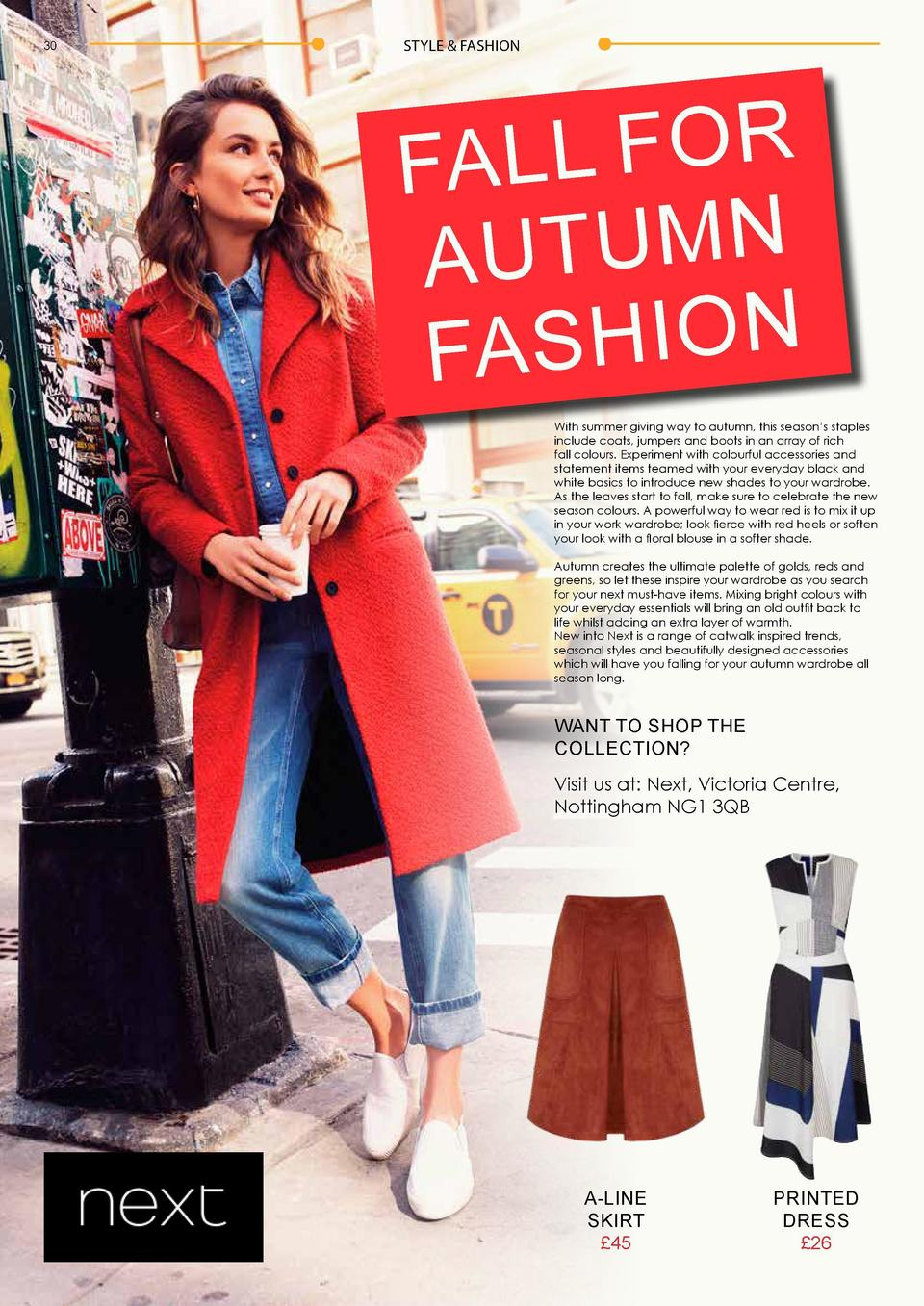 30  STYLE   FASHION  STYLE   FASHION  R O F L L FA N M U T AU N O I H S FA With summer giving way to autumn, this season  ...