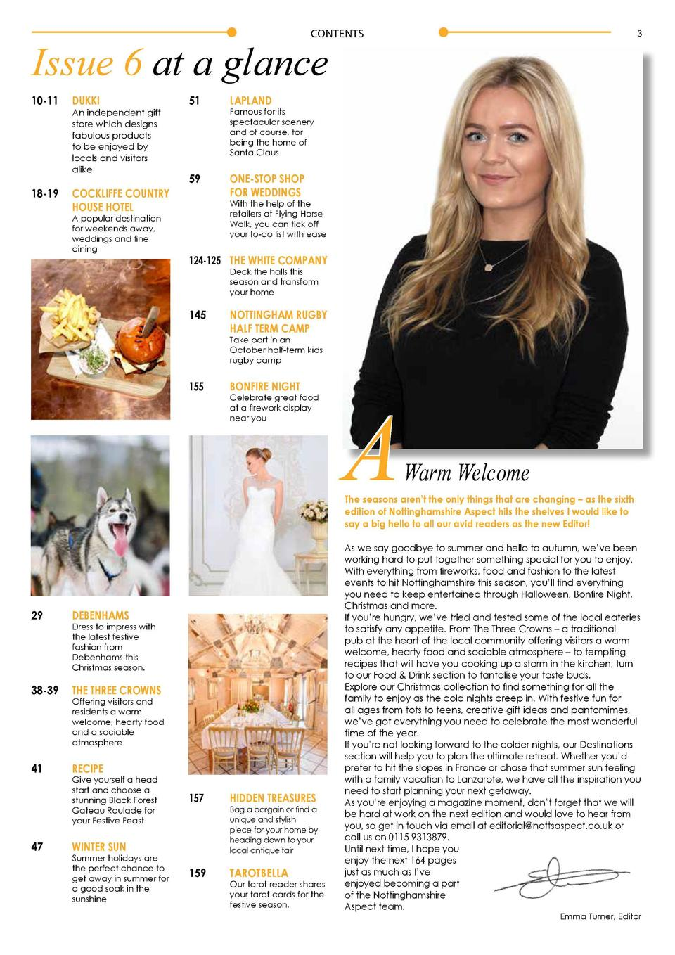 CONTENTS  3  Issue 6 at a glance 10-11  DUKKI  An independent gift   store which designs   fabulous products   to be enjoy...