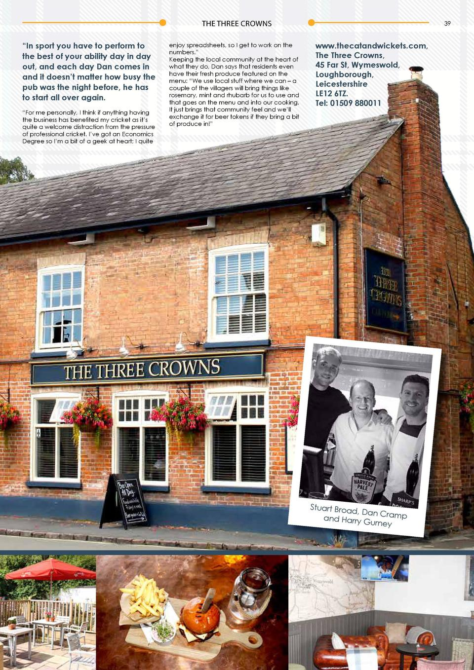 38  THE THREE CROWNS  A Broad Appeal  THE THREE CROWNS  39  By Emma Turner  N  A good pub is at the heart of any local com...