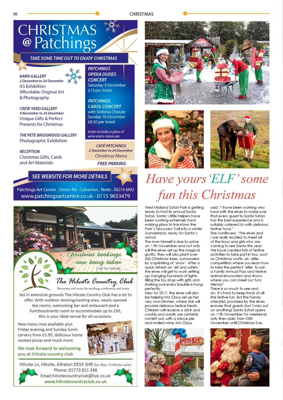88  Health   Wellbeing  CHRISTMAS  Have yours   ELF    some fun this Christmas West Midland Safari Park is getting ready t...