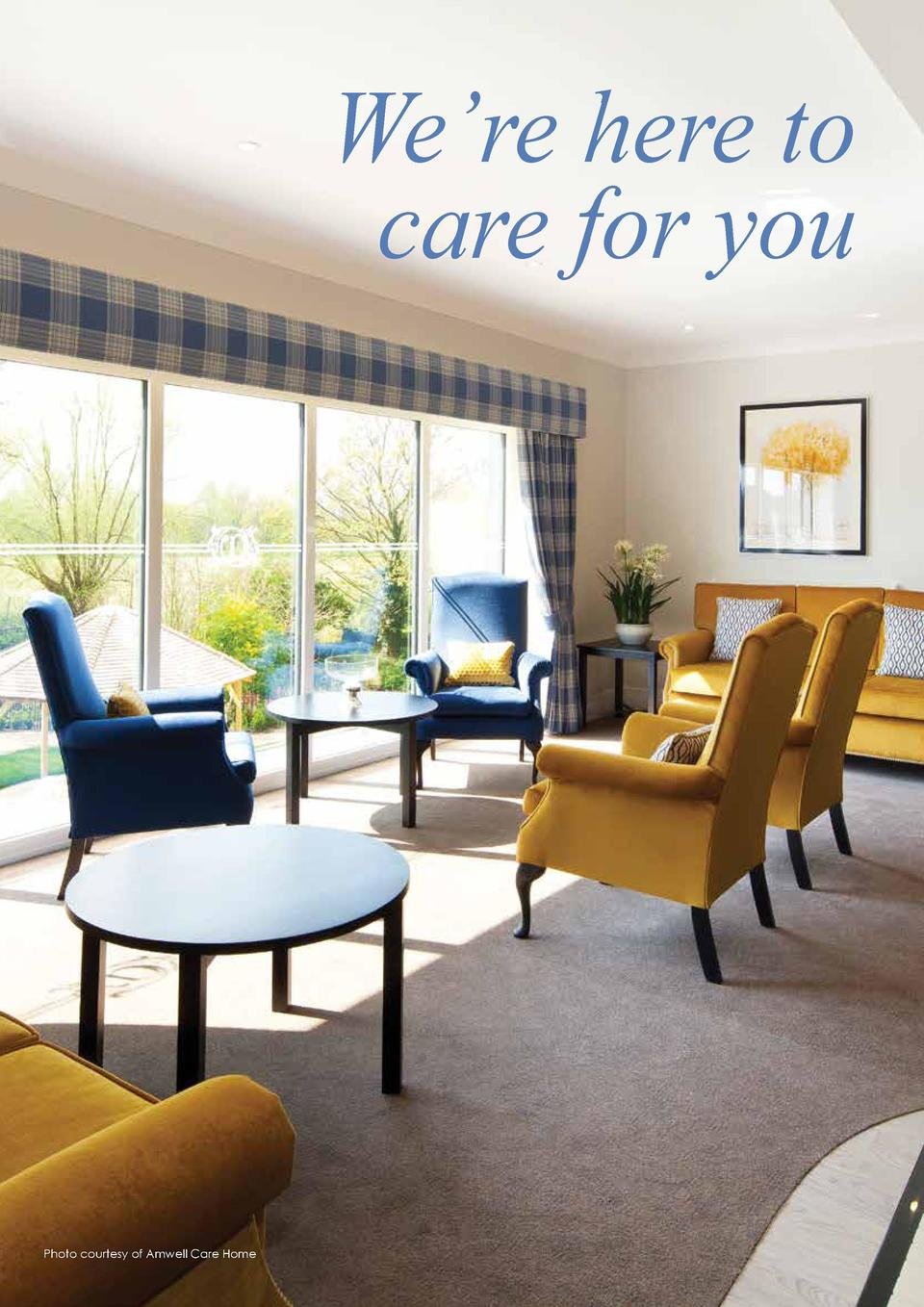 98  CARE  We   re here to care for you  Photo courtesy of Amwell Care Home