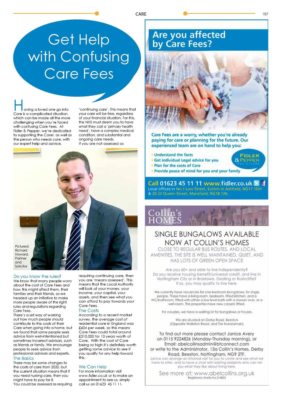 CARE  Get Help with Confusing Care Fees  H  aving a loved one go into Care is a complicated situation, which can be made a...