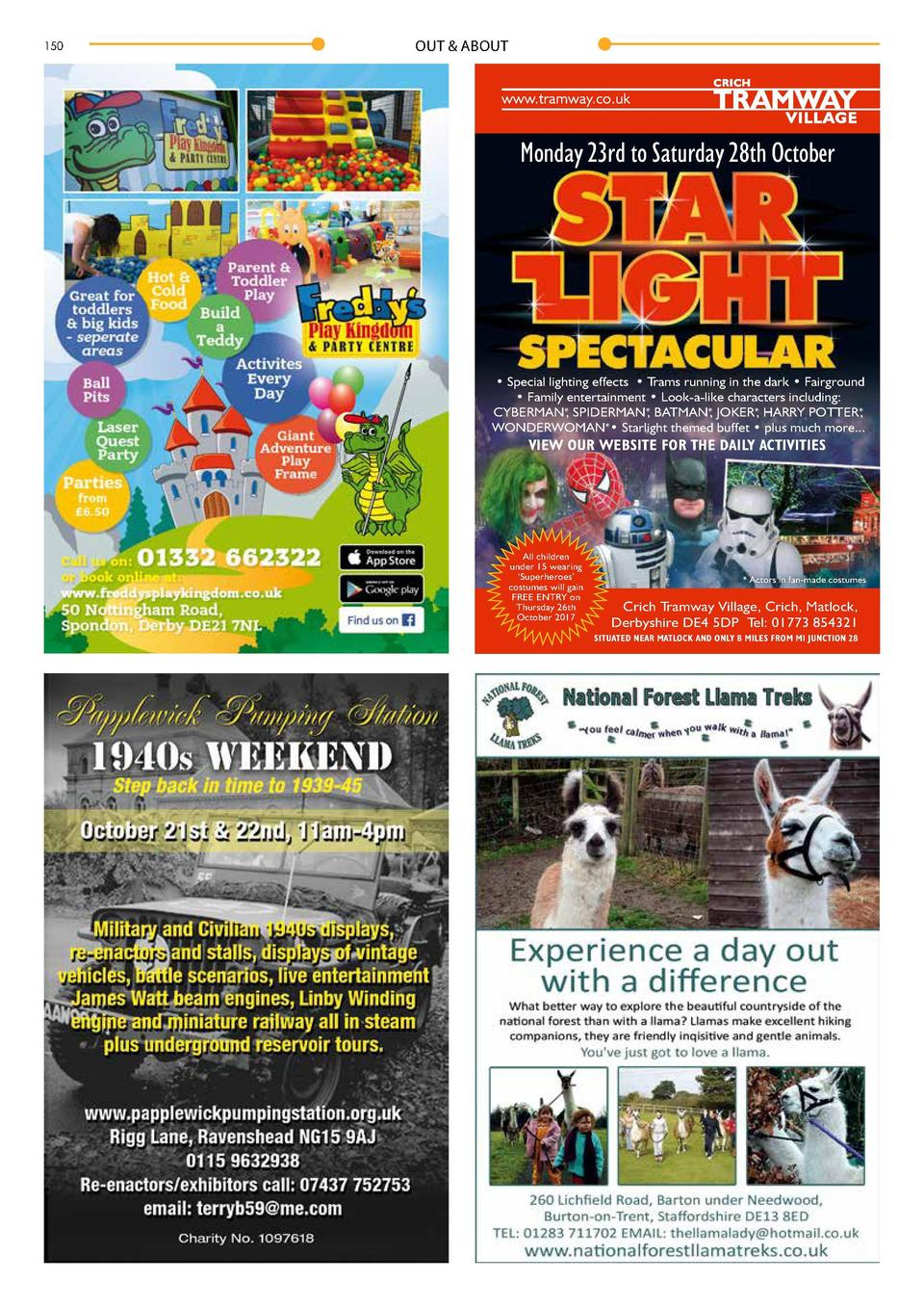 150  OUT   ABOUT  OUT   ABOUT  Monday 23rd to Saturday 28th October  Starlight Event at Crich Tramway Village 2017      Sp...