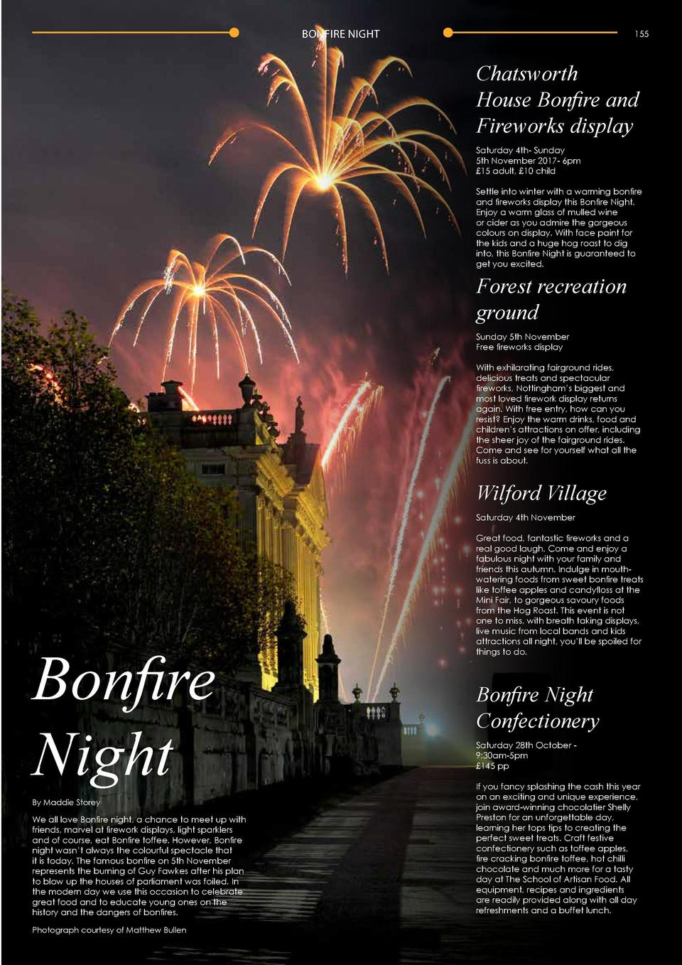 154  BONFIRE NIGHT  BONFIRE NIGHT  155  Chatsworth House Bonfire and Fireworks display Saturday 4th- Sunday 5th November 2...