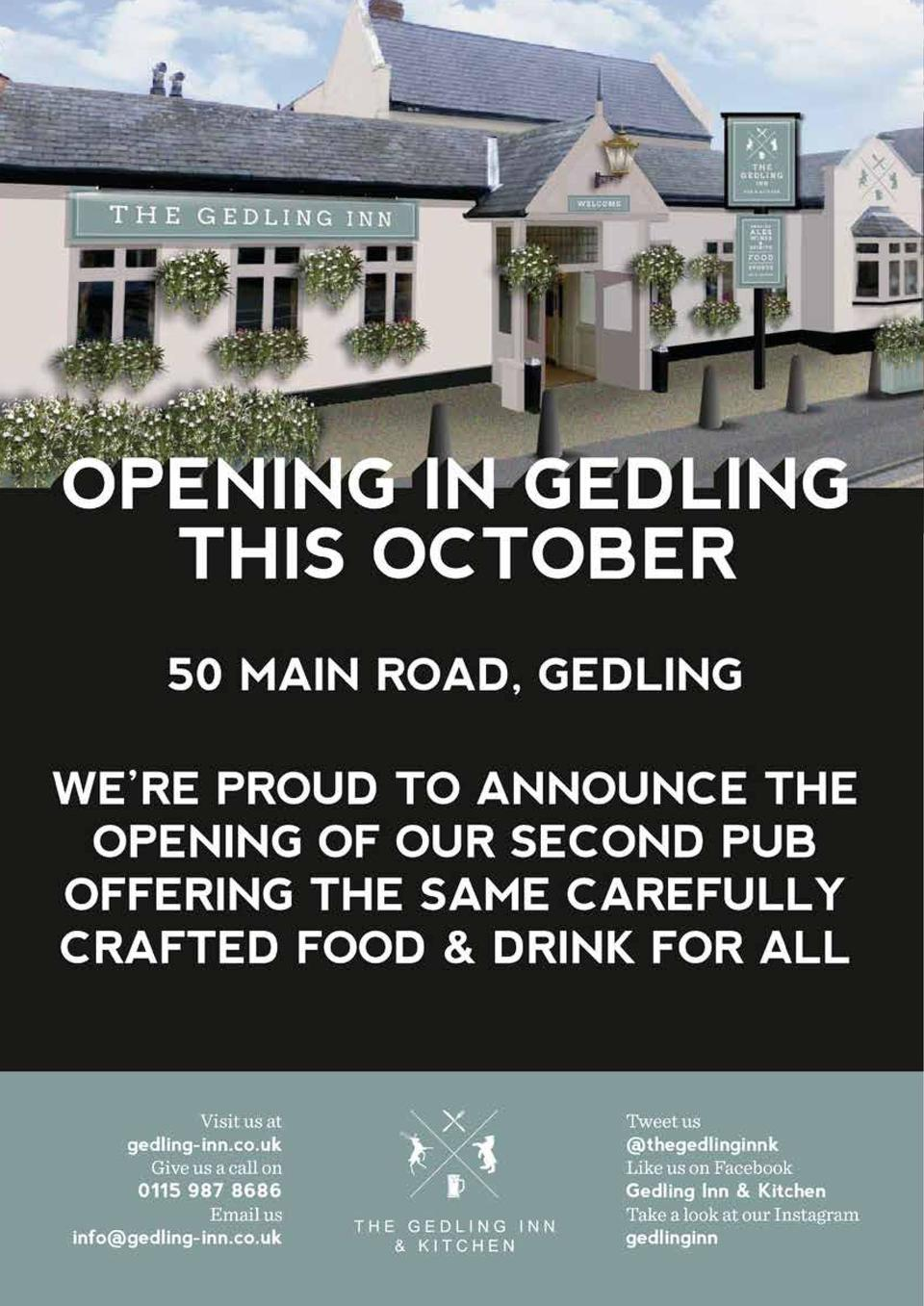 Gedling   s New Gem  T  he new Gedling Inn is a far cry from the dated flaming grill it was just a matter of weeks ago, wi...