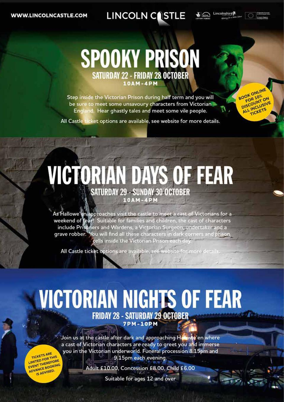 ENTERTAINMENT  Spooky goings on at Lincoln Castle this October   This autumn half term  Saturday 22nd to Friday 28th Octob...