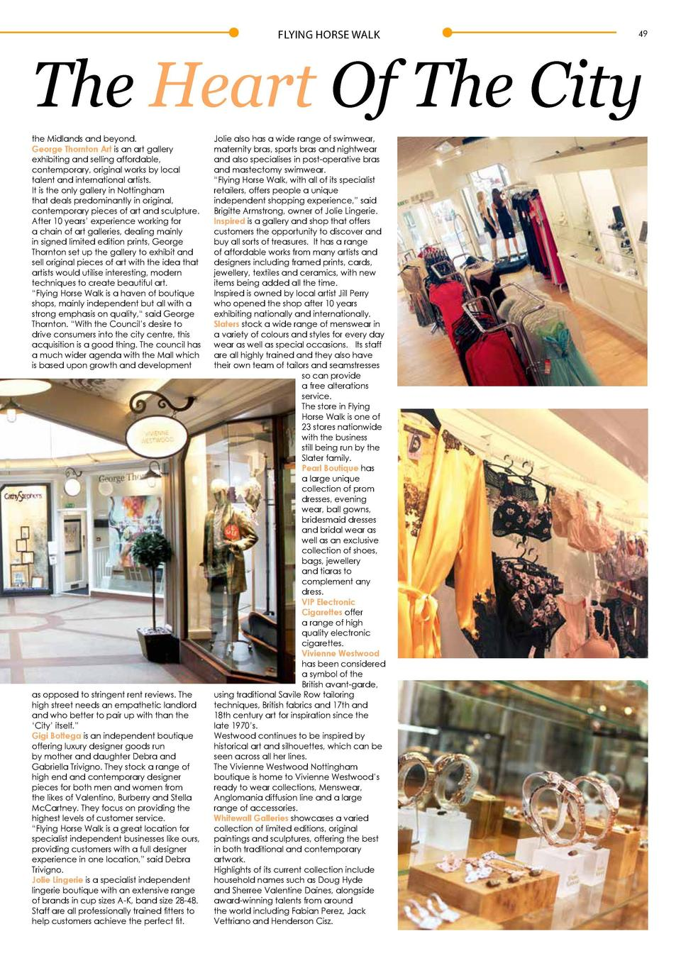 FLYING HORSE WALK  48  Boutique Shopping In  F  lying Horse Walk is a welcome haven away from the bustle of the high stree...