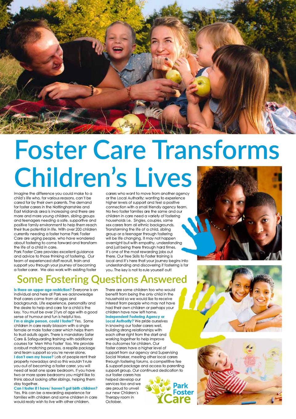 Foster Care Transforms Children   s Lives Imagine the difference you could make to a child   s life who, for various reaso...