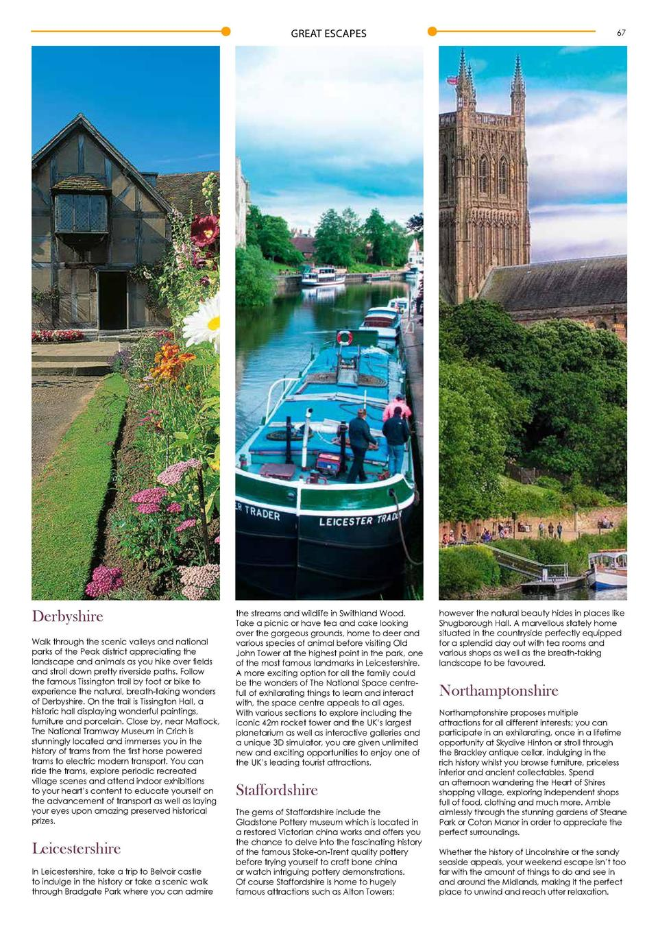 GREAT ESCAPES  Courtesy of Visit Lincoln www.visitlincoln.com  66  GREAT ESCAPES  67  Perfect places for you to unwind  S ...