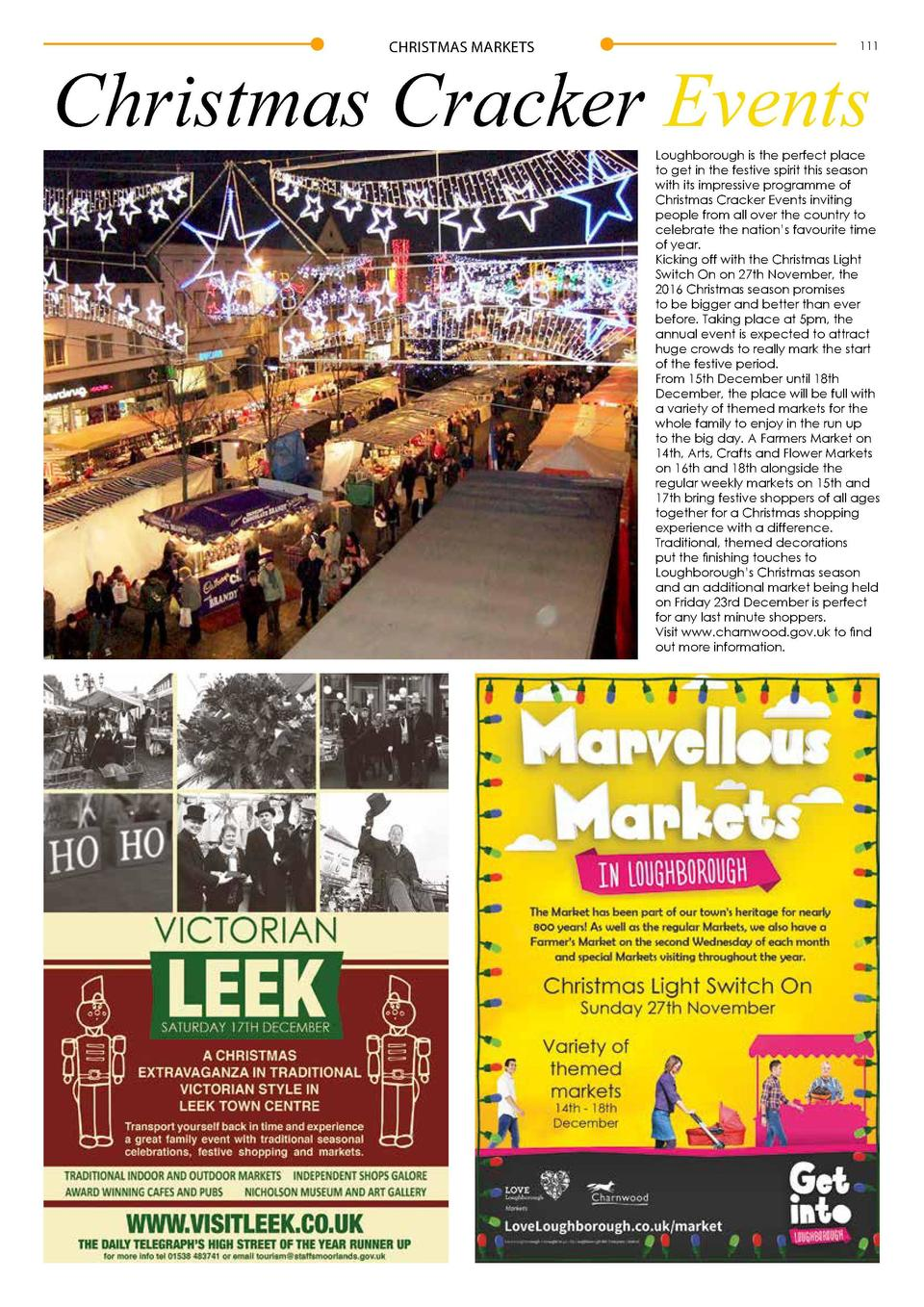 CHRISTMAS MARKETS  111  Christmas Cracker Events  Loughborough is the perfect place to get in the festive spirit this seas...