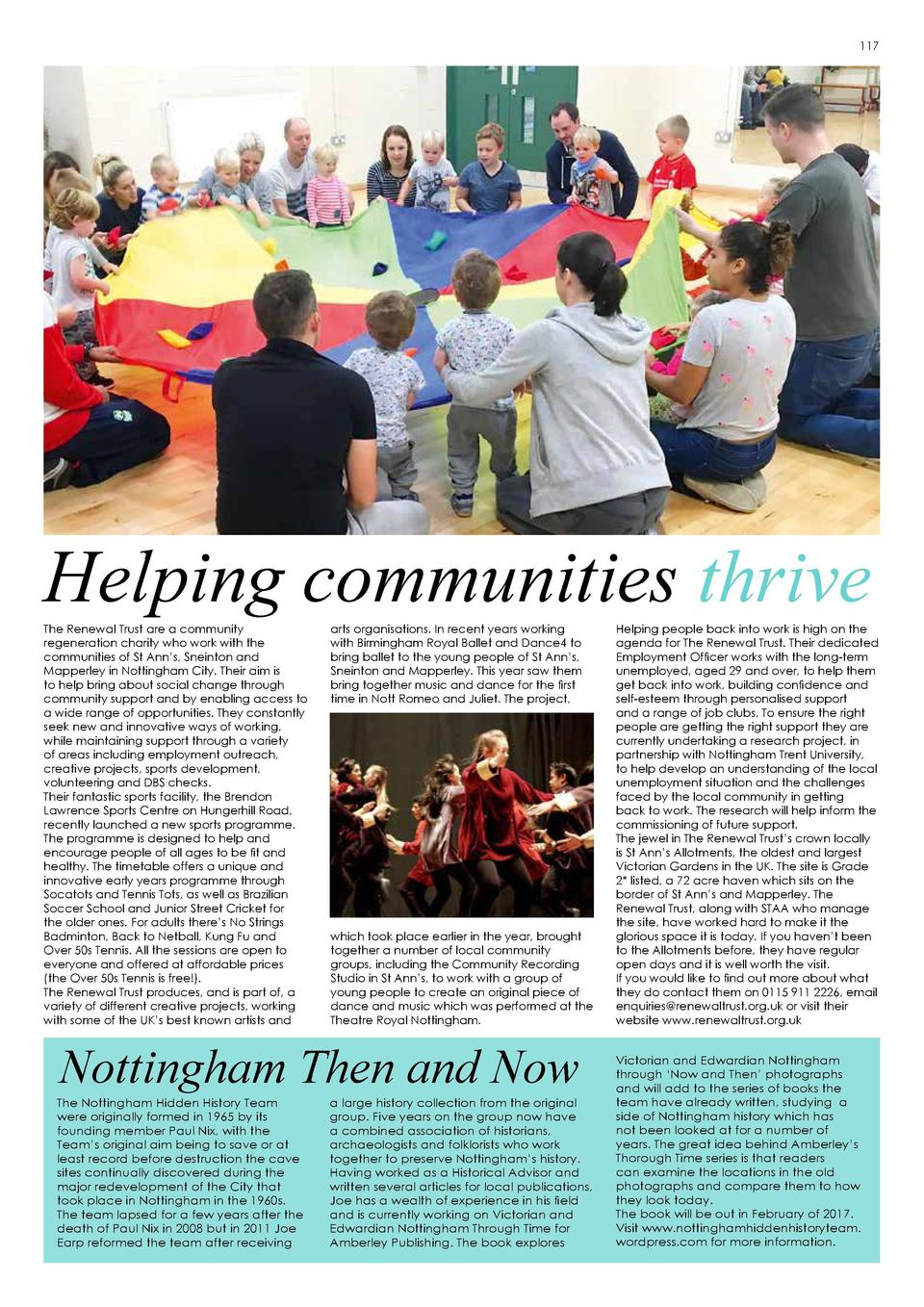 116  117  Helping communities thrive The Renewal Trust are a community regeneration charity who work with the communities ...