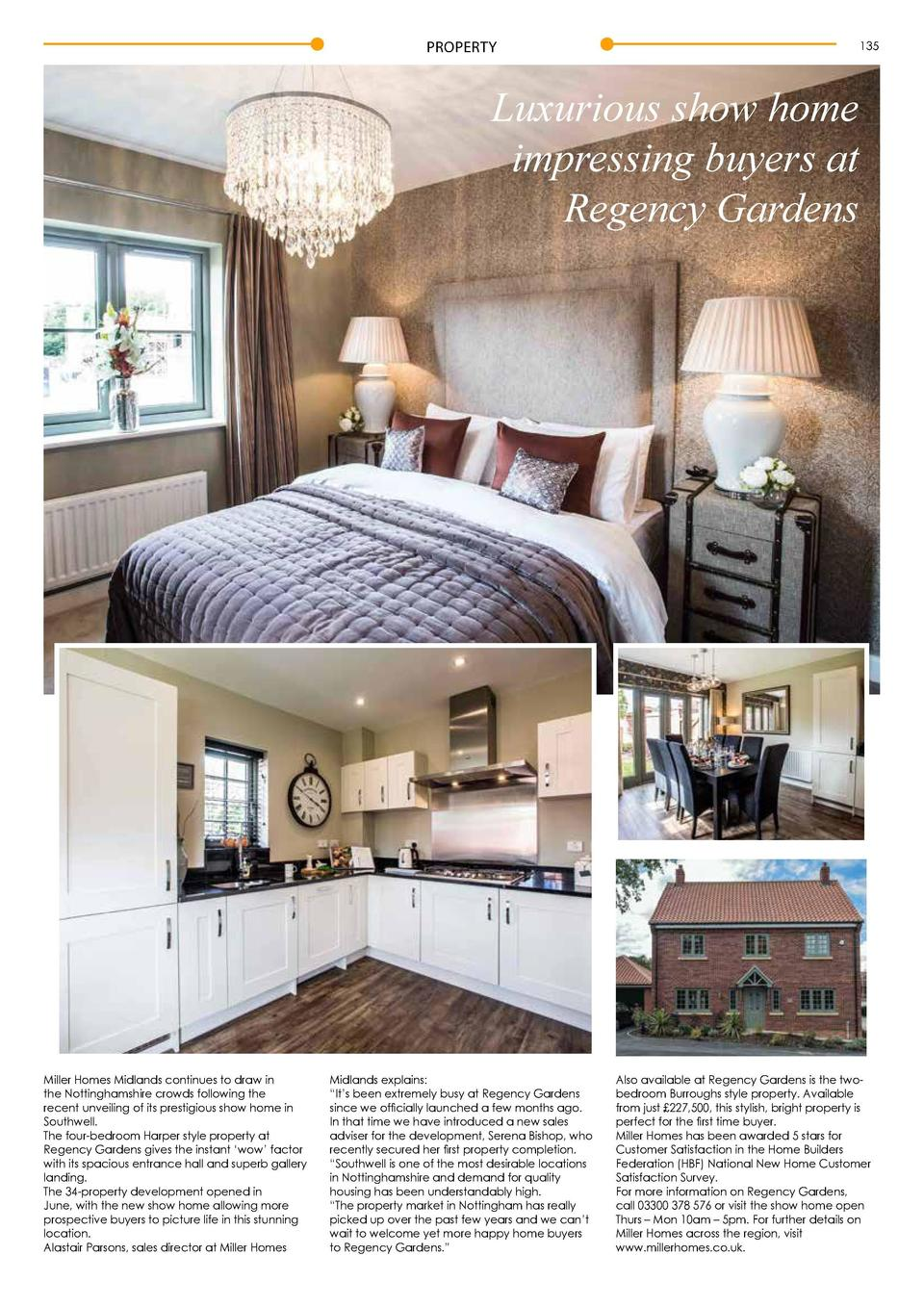PROPERTY  134  135  Luxurious show home impressing buyers at Regency Gardens  Miller Homes Midlands continues to draw in t...